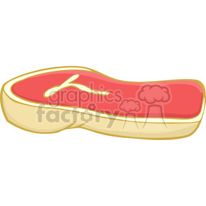 Clipart of Raw Steak clipart. Royalty-free image # 386944