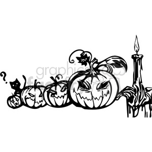 Halloween clipart illustrations 001 clipart. Royalty-free image # 387044