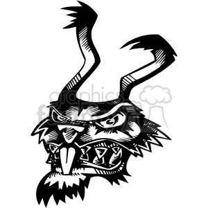 wild rabbit tattoo design clipart. Commercial use image # 387115