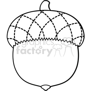 clip art acorn vector illustration outline