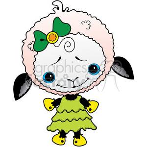 Sheep White 2 in color clipart. Royalty-free image # 387215