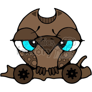 Pull Toy Owl 1 in color clipart. Royalty-free image # 387235