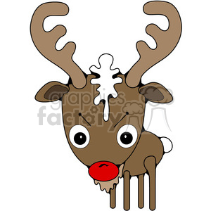 Rudolph Deer clipart. Commercial use image # 387295