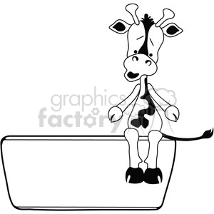 Jersey Cow on Tub Sign clipart. Royalty-free image # 387305