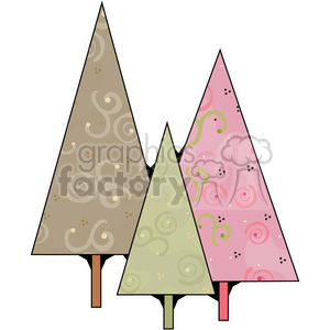 Christmas Trees 2 clipart. Royalty-free image # 387341