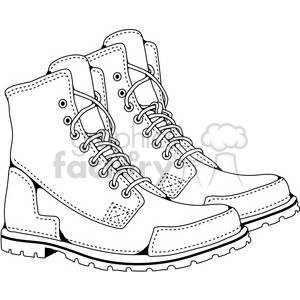 Mens Boots clipart. Commercial use image # 387476