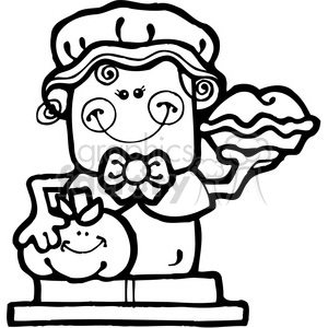 SMORE Pilgrim Girl clipart. Commercial use image # 387494