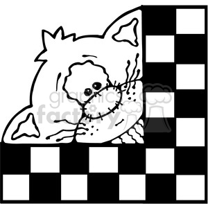 Kitty Cat Checker Sqr clipart. Royalty-free image # 387576