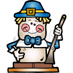 SMORE Pilgrim Boy COL clipart. Commercial use image # 387596