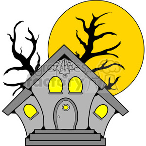 Haunted House in color clipart. Commercial use image # 387606