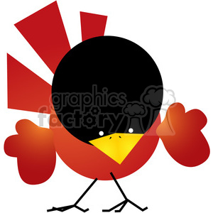Red Cardinal 05 clipart. Royalty-free image # 387635