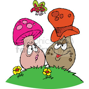 cartoon mushrooms clipart. Royalty-free image # 387782