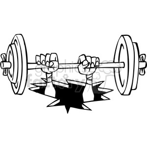 black and white cartoon weight lifter clipart. Royalty-free image # 387851
