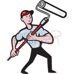 handman paint roller front low clipart. Royalty-free image # 387885