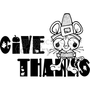 Thanksgiving mouse give+thanks thanks give black+white mouse