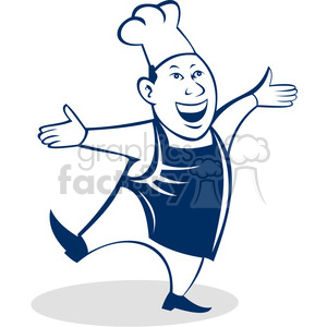 happy male chef clipart. Royalty-free image # 388350