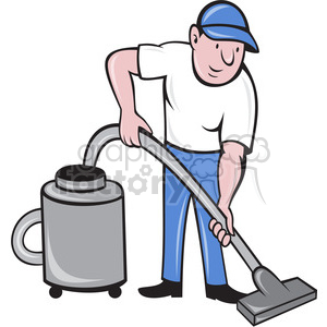 man with vacuum clipart. Commercial use image # 388448