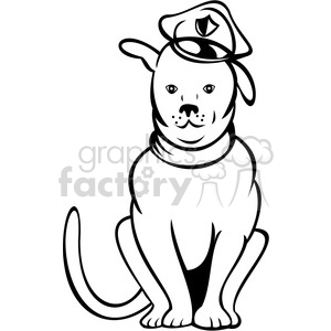 black and white police dog clipart. Royalty-free image # 388458
