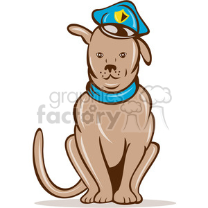 cartoon dog dogs law police K9 animal sheriff