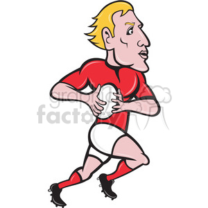 rugby player with ball clipart. Royalty-free image # 388478