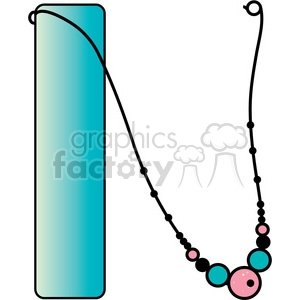 Letter N Necklace clipart. Commercial use image # 388538