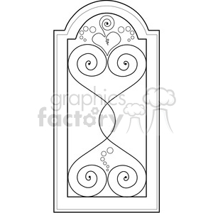 Fancy Window clipart. Royalty-free image # 388558