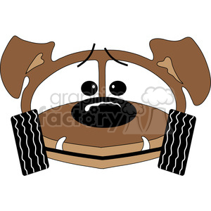 Dachshund Buggy clipart. Commercial use image # 388568