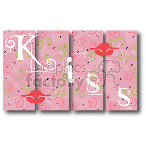 Blocks KISS clipart. Royalty-free image # 388578