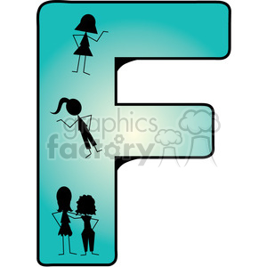 Letter F Friends clipart. Royalty-free icon # 388608
