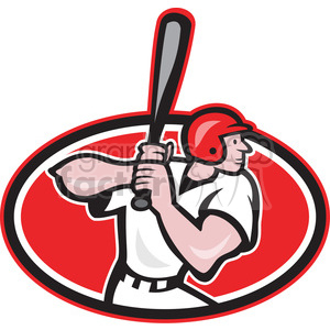 baseball player batting side on clipart. Commercial use image # 388648