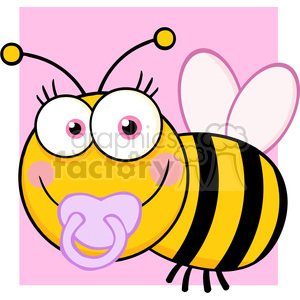 5608 Royalty Free Clip Art Baby Girl Bee Cartoon Mascot Character clipart. Royalty-free image # 388708