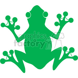 5638 Royalty Free Clip Art Green Frog Silhouette Logo clipart. Royalty-free image # 388750