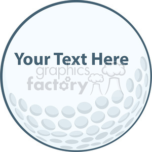 5690 Royalty Free Clip Art Golf Ball Sign clipart. Commercial use image # 388800
