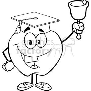 5963 Royalty Free Clip Art Smiling Character Ringing A Bell For Back To School clipart. Royalty-free image # 388920