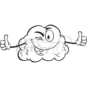 5977 Royalty Free Clip Art Winking Brain Character Giving A Thumb Up clipart. Royalty-free image # 389110