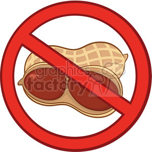 6592 Royalty Free Clip Art Stop Peanuts Sign clipart. Royalty-free image # 389410