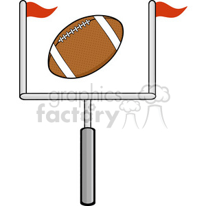 6565 Royalty Free Clip Art American Football Goal clipart. Royalty-free image # 389667