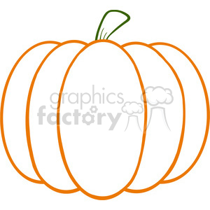 6602 Royalty Free Clip Art Pumpkin Cartoon Illustration clipart. Commercial use image # 389717
