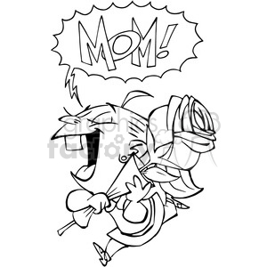 black and white mothers day clipart clipart. Commercial use image # 389835