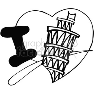 I love italy in black and white clipart. Royalty-free image # 389865