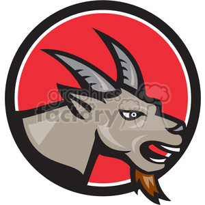 goat head side clipart. Royalty-free image # 389885