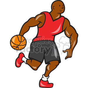 basketball player dribble ball OP clipart. Commercial use image # 389895