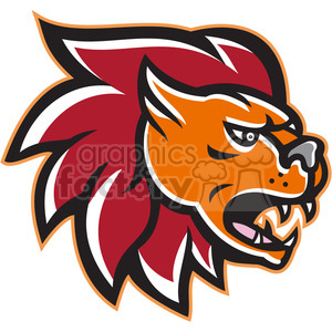 lion head angry side clipart. Royalty-free image # 389910