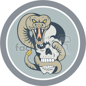 snake wrapping around skull clipart. Commercial use image # 389920