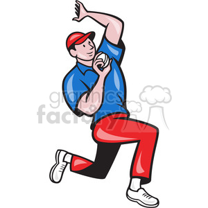 cricket bowler bowling side clipart. Commercial use image # 389960