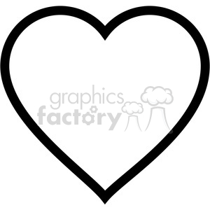 heart outline clipart. Commercial use image # 390066