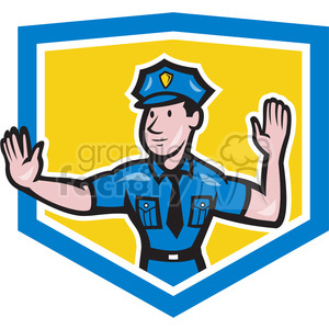 police directing traffic clipart. Commercial use image # 390378