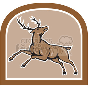 reindeer jumping clipart. Royalty-free image # 390388