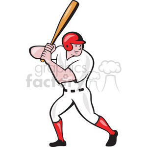 baseball player batting up clipart. Royalty-free image # 390418