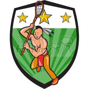 lacrosse indian player running right side clipart. Royalty-free image # 390430